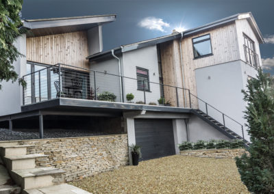 An exciting remodelling, extension and landscaping of late a 1960's architect designed house in Eastcombe, Stroud